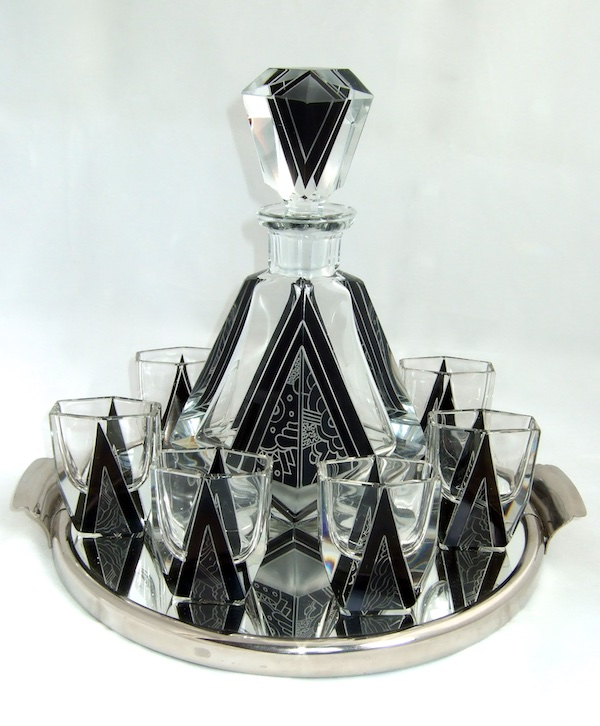 Other Glass Houses          Art Deco Glass. PALDA BLACK DEC