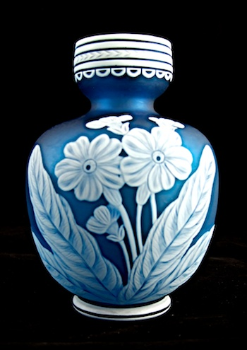 English Glass            American Glass. WEBB BLUE