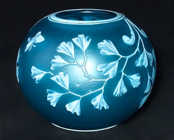 English Glass            American Glass. STOURBRIDGE BLUE