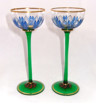 Enamelled Glass Legras Fritz Heckert Theresienthal. THERESIENTHAL DAISY