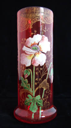 Enamelled Glass Legras Fritz Heckert Theresienthal. Legras white flower?