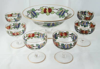 English Glass            American Glass. Webb Corbett Sundae dish set